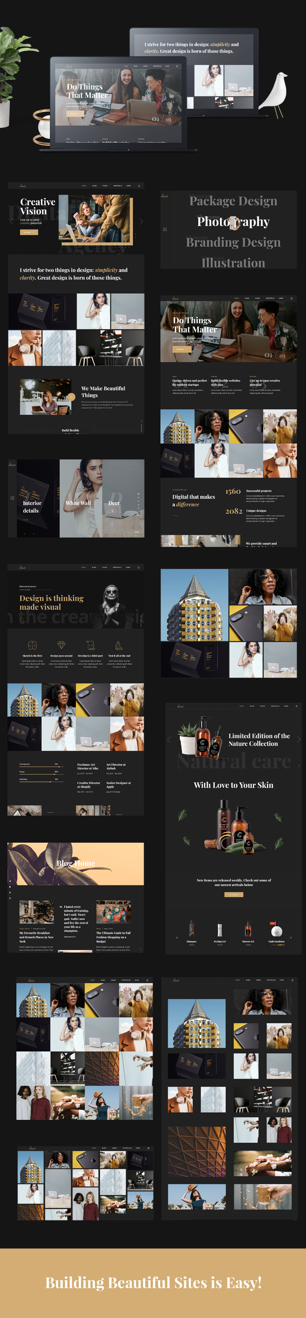 Louie - Modern Portfolio Theme for Agencies - 1  Download Louie – Modern Portfolio Theme for Agencies nulled louie promo